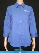 KU Ladies Button Up - Blue
