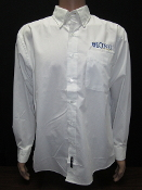 KU Mens Button Up - White