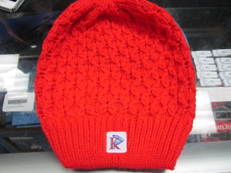 KU Women's Red Beanie