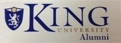 King University Alumni Static Decal