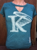 KU Notched V Neck Tee