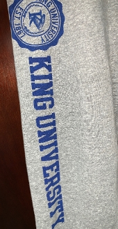 King University Open Bottom Sweat Pants - Light Gray