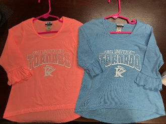 King University Toddler Girls Shirt - Coral